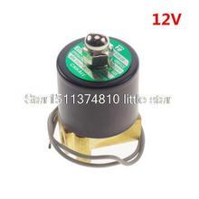 """12VDC для воды воздуха газа топливного нормально закрытый электромагнитный клапан 1/"""" BSPP"""