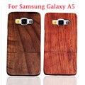 Para Samsung Galaxy A5 calidad de Hight genuino Natural bienes caso de madera Couque madera cubierta Funda para Samsung A5 cajas del teléfono