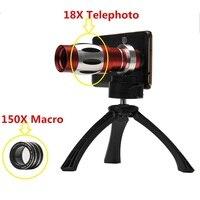 2017 150X 줌 매크로 렌즈 배 망원 망원경 Lentes 삼성 S6 S7