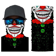 Clown Headband Balaclava Anti-UV Face Mask Sun Headband Mask Motorcycle Bicycle Ski Skull Half Face Mask Ghost Scarf Use Neck Wa bjmoto cool skeleton skull motorcycle ski headband sport outdoor neck face mask mtb racing cycling windproof scarf balaclava