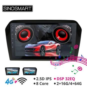Sinosmart Android 8.1 Car GPS Navigation for Volkswagen Santana 2012-2017 Radio 2din 2.5D IPS/QLED Screen