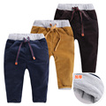 Niños de pana pantalones acolchados de invierno, verano, caída, pantalones de algodón del bebé del desgaste de los niños niños pantalones espesantes U1197