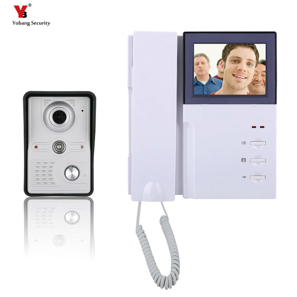 Yobang Security 4 Inch phone Video Doorbell Phone Intercom Kit 1-camera 1-monitor IR camera Night Vision and Video Intercom yobang security freeship 4 3 inch video door color video monitor kit video intercom and video doorbell ir camera night vision