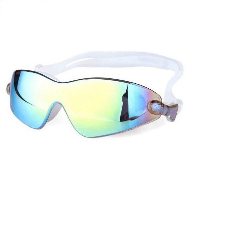 2018 Colorful Swim Big Glasses For Men Swiming Goggles Anti-Fog Waterproof UV Protection For The Pool