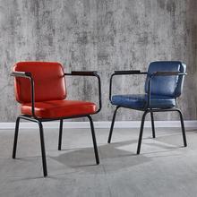 Американский промышленный ветер Отель обеденный стул ретро кованого железа офисный Досуг спинки кафе стул дизайнерский креативный стул