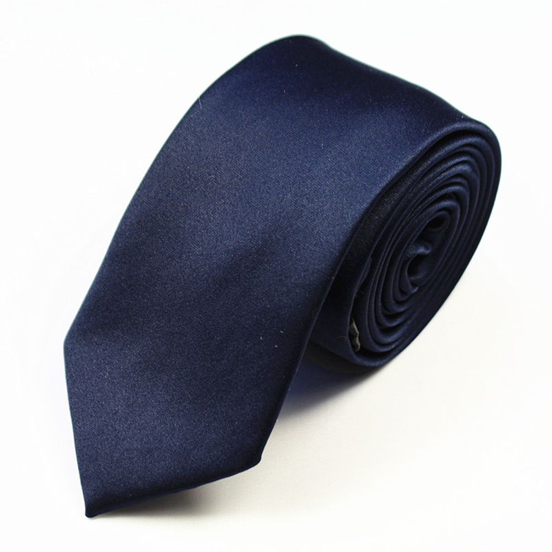 RBOCOTT Solid Skinny Tie Mens Slim Tie Vrijetijdskleding Voor Mannen - Kledingaccessoires - Foto 6