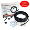 15M Cable 10mm Mini Digital USB Endoscope Inspection 480P Camera 4 LED Borescope for Android Windows IP67 Waterproof Take Vedio
