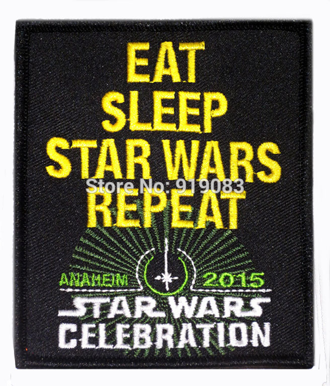 4 Star Wars 2015 Celebration Patch the force awakens TV Movie Series Uniform Embroidered iron on