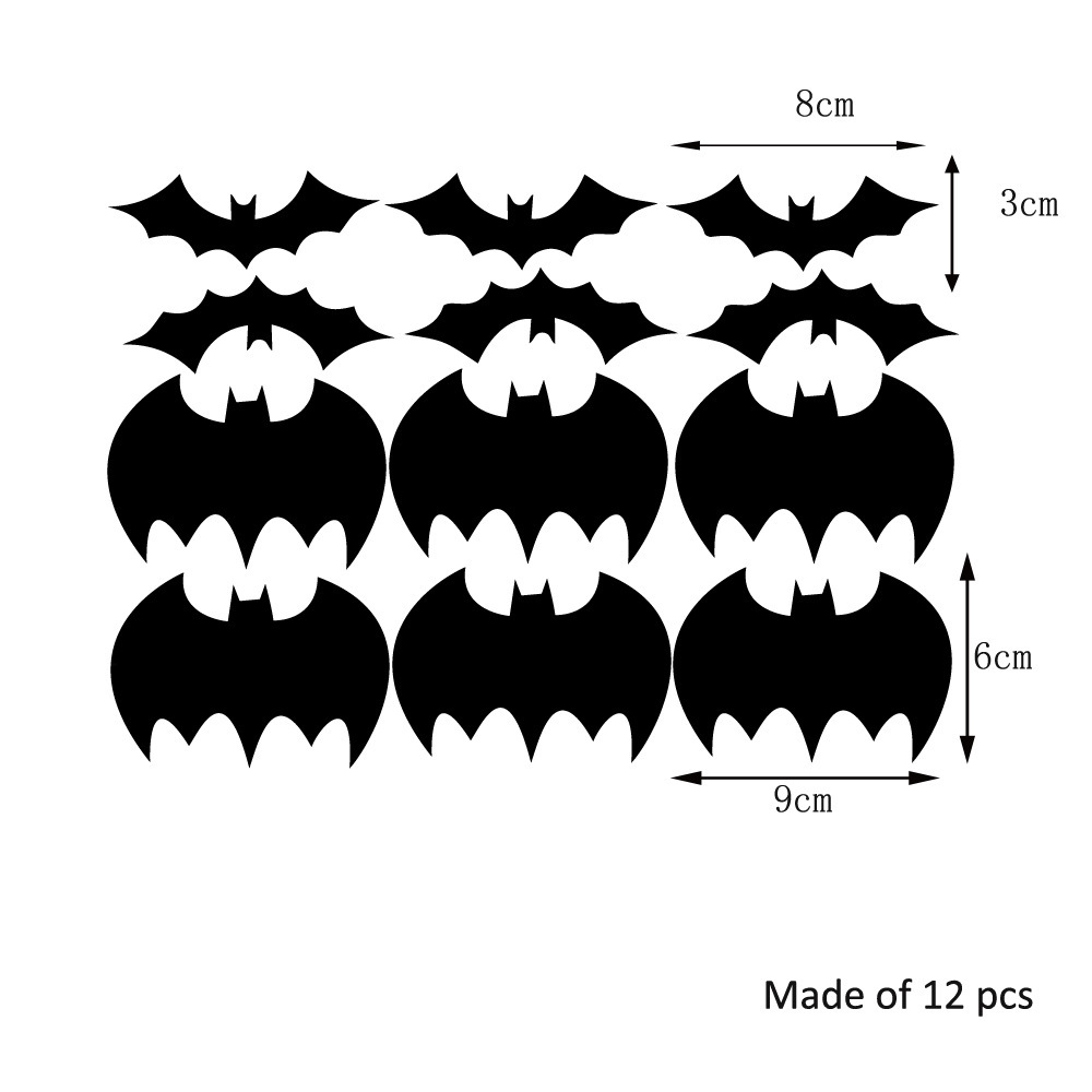 halloween batman 3d wallpaper mirror acrylic wall stickers self