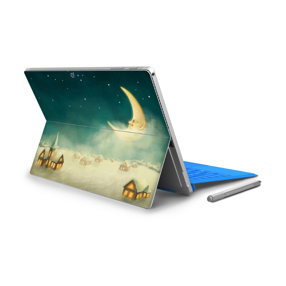 YCSTICKER - For Surface Pro 4 Vinyl Back Full Decal Tablet Painting Sticker Rabbit Print Skin & Surface Pro 4 HD Screen Film