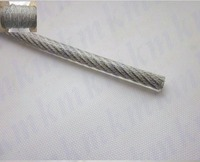 Wholesale 100M Roll Overall Diameter 1 5MM PVC Plastic Coated Stainless Steel Wire Rope 1 2MM