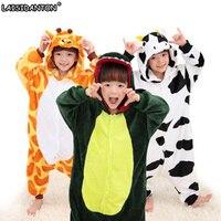 Children Boys Girls Unisex Pajamas Halloween Cosplay Costumes Animal Onesie Sleepwear Dog Unicorn Stitch Tigger Giraffe