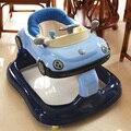 Высококачественный ходунки с музыкой стороны предотвращение опрокидывания многофункциональный шаг дети помогают автомобиль 6-7-18 месяцев