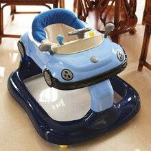Высококачественный ходунки с музыкой стороны предотвращение опрокидывания многофункциональный шаг дети помогают автомобиль 6-7-18 месяцев(China (Mainland))