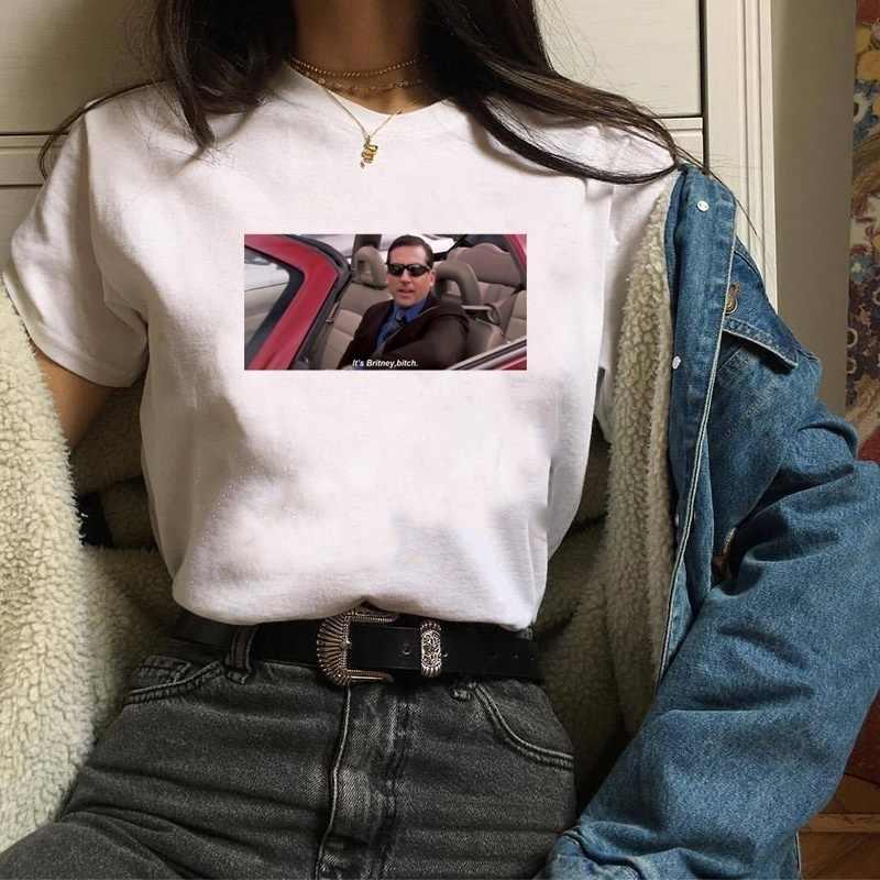 d2a028799 ... HAHAYULE-JBH 1pcs I Am Alive The Office ItBritney Bitch Michael Scott T- Shirt