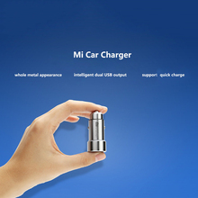 100 Original Xiaomi MI Car Charger Metal Appearance Dual USB Output Quick Charger Adapter For iPhone