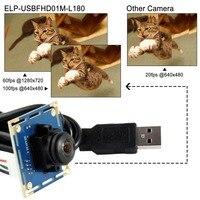 Ominivison OV2710 2MP 1080P Wide Angle 180degree Fisheye USB Camera Module ELP USBFHD01M L180