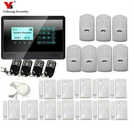 YobangSecurity Wireless Home Security Alarm System DIY Kit with Auto Dial PIR Motion Smoke Door Window Sensor Outdoor Siren yobangsecurity touch keypad wireless gsm sms smart home security burglar alarm system smoke sensor voice pir motion door window