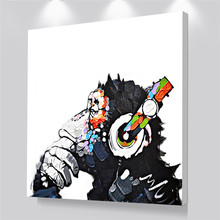 DJ Monkey Canvas Wall Art Printed Giclee Prints Modern Home Decoration Big Size Poster for Bedroom
