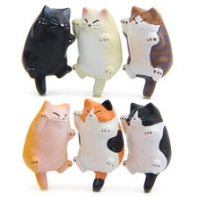 1Pcs Cute 3d Cats Fridge Magnets Stickers Resin Home Decor Cartoon Animal Magnetic Refrigerator Magnet Stickers Deacls(China)