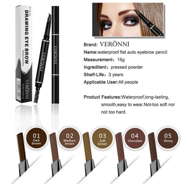 Professional Women Eye Makeup Beauty Automatic Eyebrow Pencil Liner