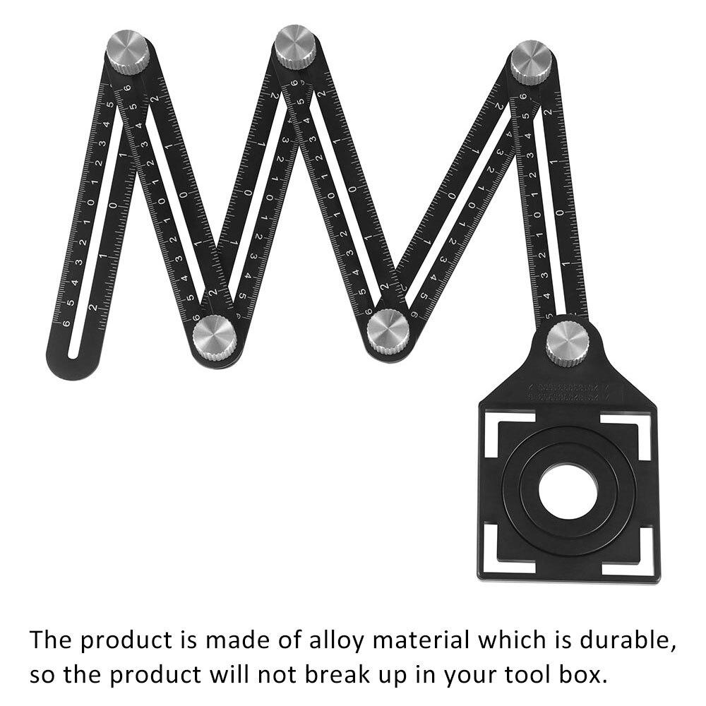 Ferramentas de carpinteiro profissional combinação ângulo quadrado régua transferidor multi-função ferramenta de medição