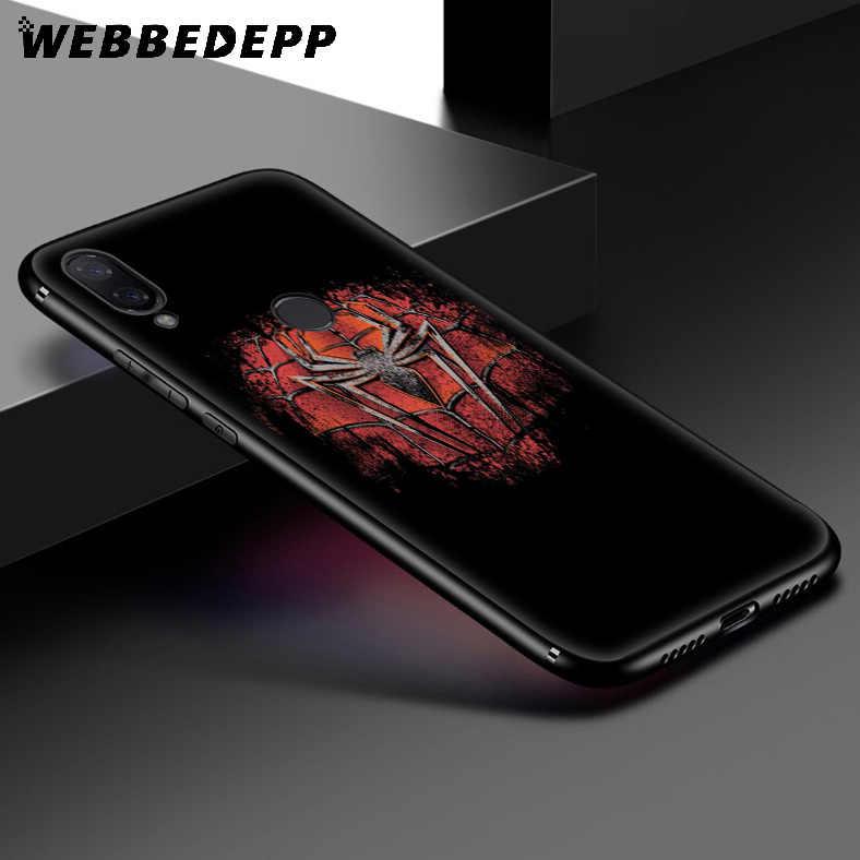 WEBBEDEPP Marvel Örümcek Adam Logo Yumuşak Kılıf Xiaomi Redmi K20 7A 4A 4X5 5A 6 6A S2 Not 8 4 4X5 6 5A 7 Pro Artı Başbakan