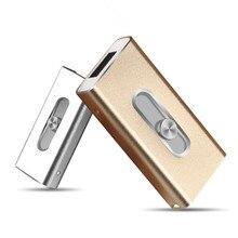 For iPhone 6, 6 Plus 5 5S ipad Metal Pen drive HD memory stick Dual purpose mobile Otg Micro USB FLASH Drive 32GB 64GB PENDRIVE