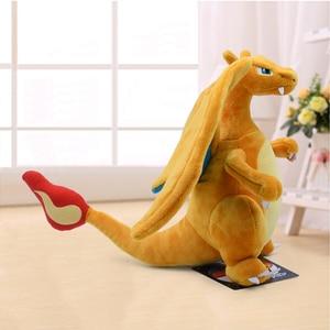 Image 3 - 21cm New Anime Charizard Center Mega Evolution Soft Plush Toys Hi Q PP Cotton Stuffed Animal Children Plush Doll Gift