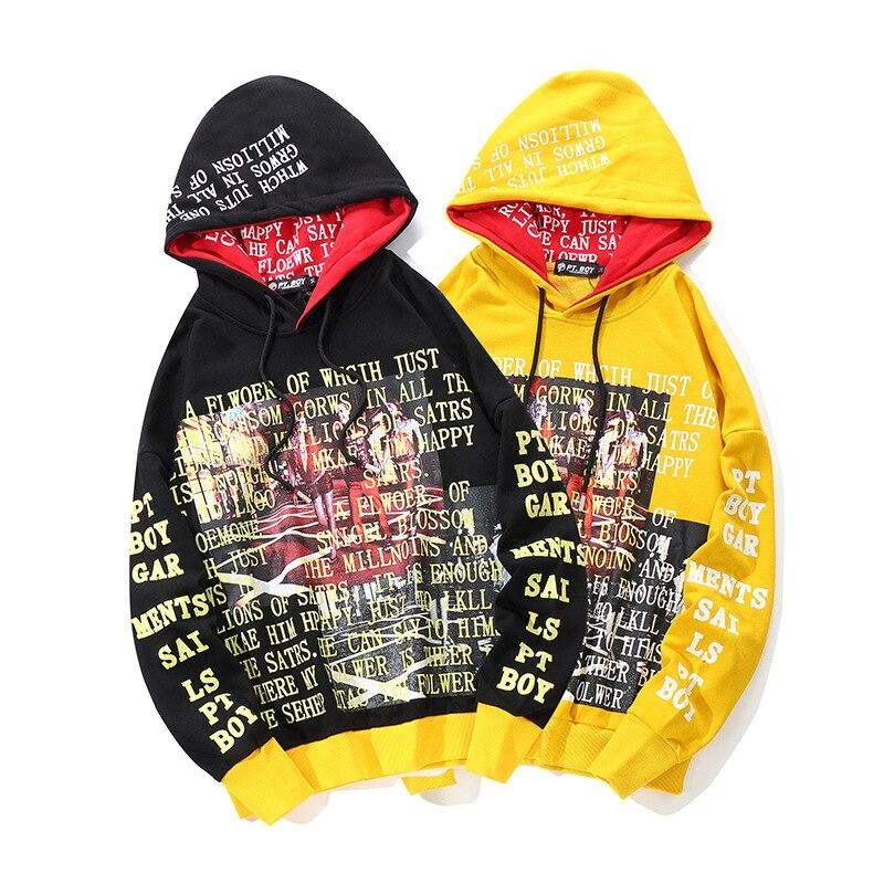 Harajuku sweats capuches homme côté rubans déchiré ourlet mode pull à capuche Streetwear sweat gothique tissu