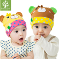 Baby Boys Girls Beanie Hats Kids Lovely Bear Knitted Hat Infant Toddler Cap Soft Cotton Newborn Autumn Spring Hats Children Caps