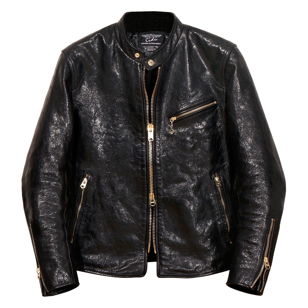 Free shipping.Luxury Italy horsehide jacket.japan style.genuine leather jackets.classic mens slim leather coat,quality sales