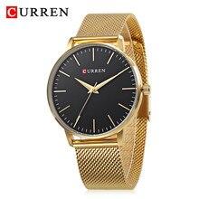 e8a5c130feb Moda CURREN Black Watch Relogio feminino Mulheres Relógios De Luxo relógio  de Pulso Das Senhoras do