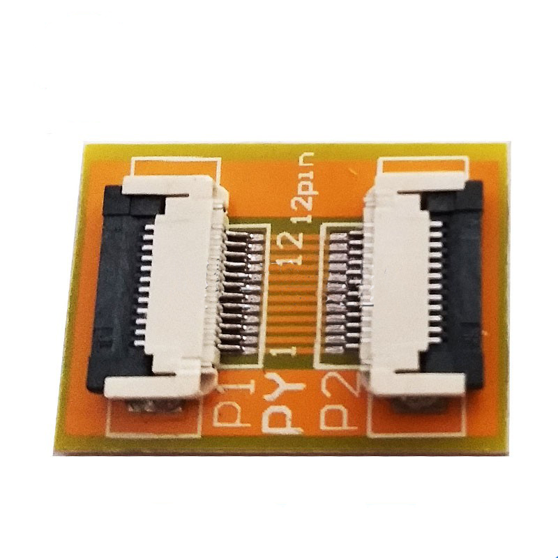 Free Shipping 2PC Flexible Flat Cable FFC FPC 12P Extension Board With 0.5mm Connector Soldering  Adapter PCB Board
