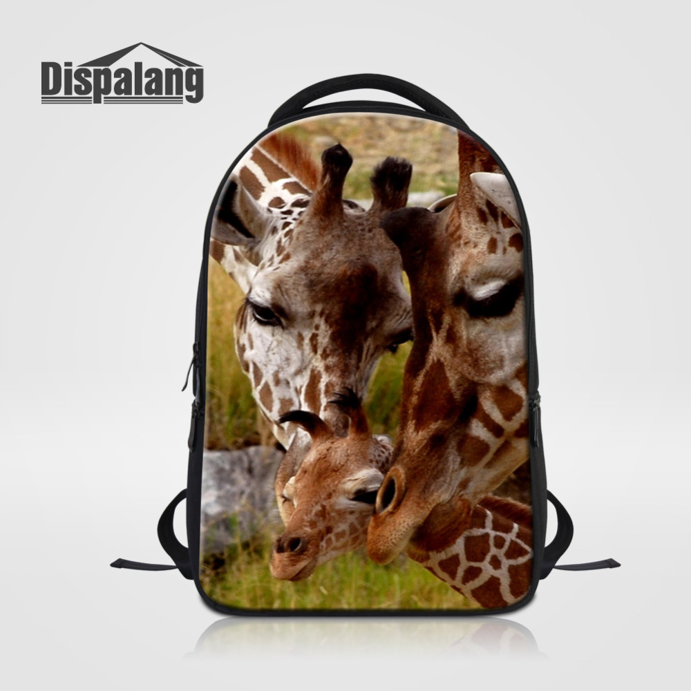 Dispalang Casual Women Laptop Backpack Animal Giraffe Print Women's Backpack Children Schoolbag Bagpack For Teenagers School Bag dispalang creative stars print kids schoolbag felt laptop backpack for men women school bag for children galaxy student rucksack