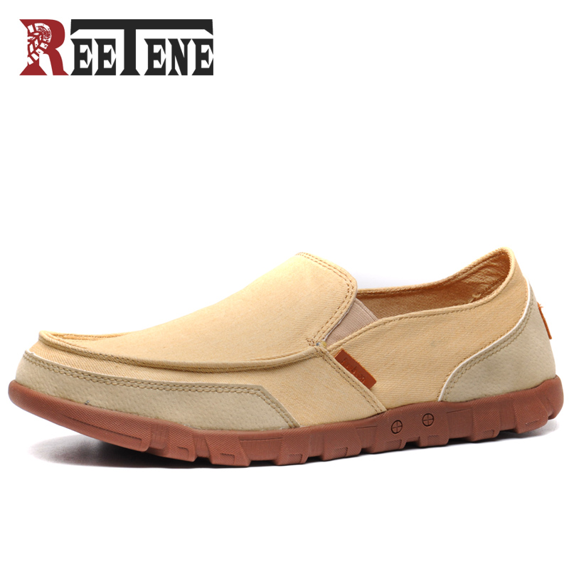 REETENE 2017 Summer Fashion Men Casual Shoes Breathable Canvas Shoes Men Flats Slip On Men Shoes Casual Zapatos Hombre 37-48 цена