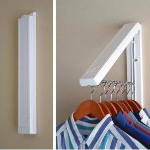 2017  Retractable Indoor Clothes Hanger Magic Multifunctional Fashion  Folding Drying Rack Waterproof Coat Towl Rack