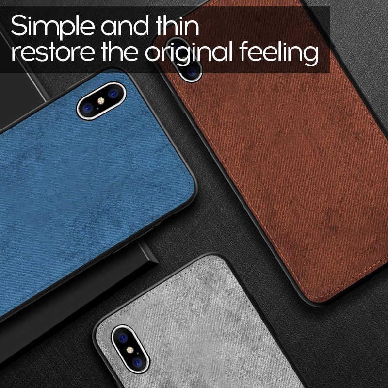 Роскошный Магнитный тканевый чехол для iPhone11Pro XS Max XR X 7 8 Plus 6 6s ультра-тонкая текстура мягкий силиконовый чехол для телефона s