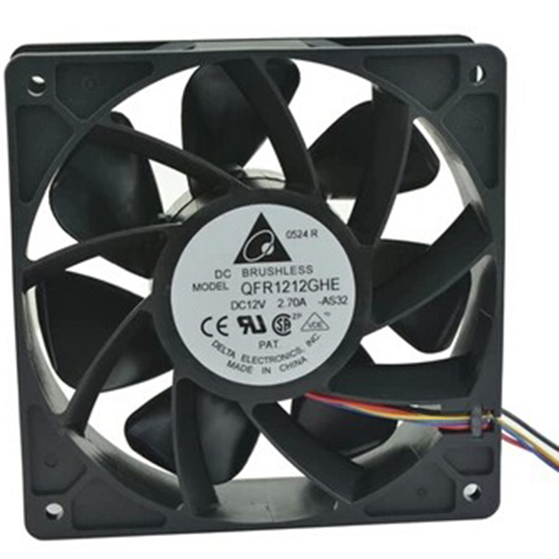 For Delta QFR1212GHE AntMiner bitmain S7 S9 currency cooling fan 12V 2.7A 4pin delta 12cm 12038 12v cooling fan pfb1212ehe pfb1212ghe pfb1212uhe qfr1212ehe qfr1212ghe