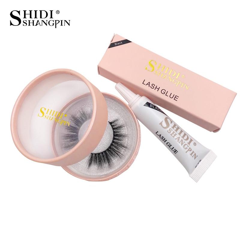 SHIDISHANGPIN Natural Long 3d Mink Lashes 1 Pair Mink Eyelashes, Makeup Waterproof EyeLashes Glue For Plastic Cotton Stalk  #72G