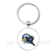 Premier League Voetbal Club 25mm Glas Cabochon Sleutelhanger Chelsea Football Club Competities Logo Voetbal Club Sleutelhanger Voor Fans Gift(China)