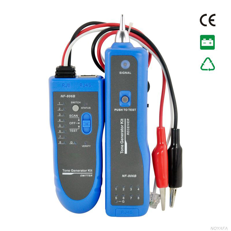 FREE SHIPPING, NOYAFA NF-806B Network Telephone Cable Tester Wire Tracker RJ45 RJ11  цены
