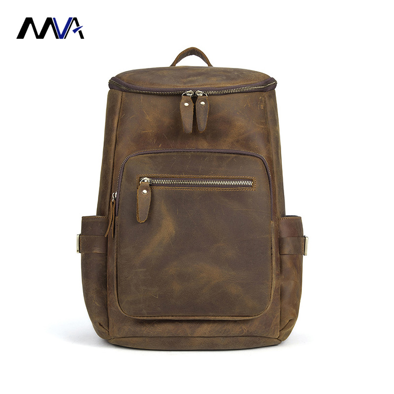 MVA Men Genuine Leather Backpack Crazy Horse Laptop Bag Brand Casual Business Vintage Daypack Travel Casual School Book Bags new lepin 22001 pirate ship imperial warships model building kits block briks toys gift 1717pcs
