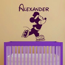 Unique Wall Stickers Custom Name Decal Micky For Boys Room Home Decoration Vinyl Art Y-222