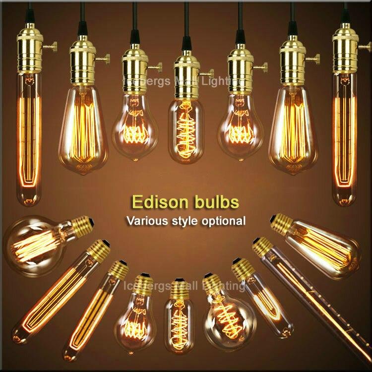 40W Vintage Edison Bulb, E27 Retro Light lamp Incandescent Bulb A19,G80,G95,ST64,T10,T185,T225,T300,T45,A19 ,ST58