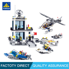 KAZI blocks  Police Series  Building Blocks Education  blocks Toy For Children intelligence toys fancy toy Compatible Leg o pirate series imperial warship building blocks education 1717pcs construction toys gifts for children compatible lepin 22001