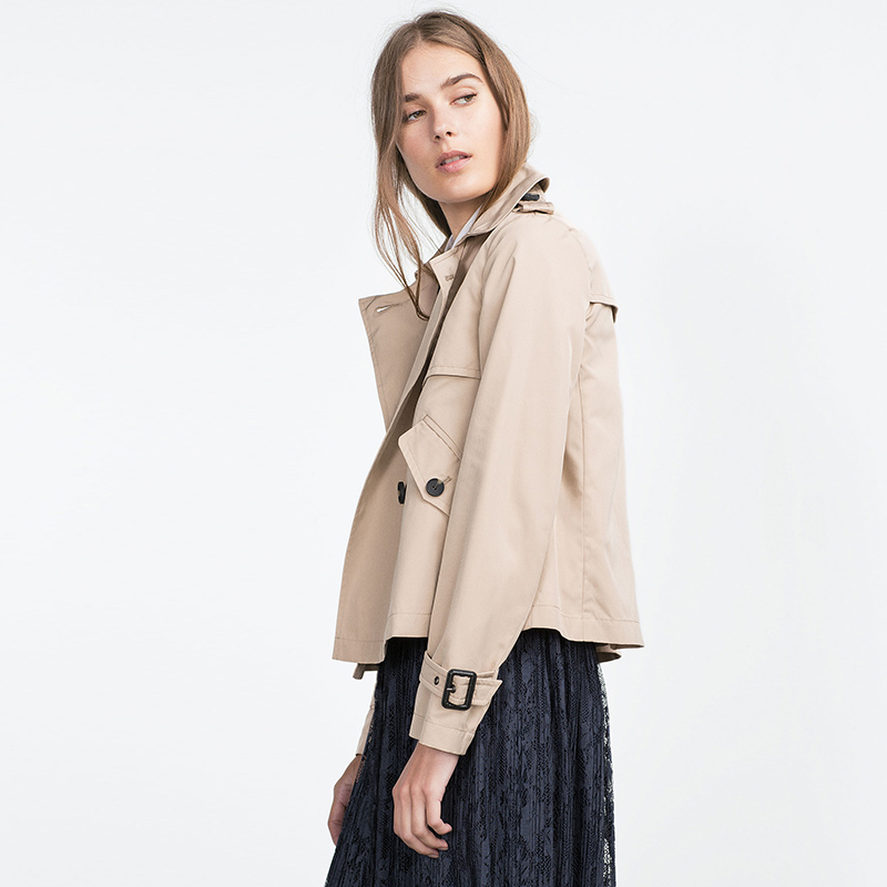 Basic Zara Beige Trench Xs Femme Zara Natural Coat HqIncFwt4