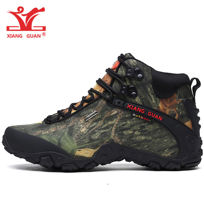 Men Hiking Shoes Women Waterproof Trekking Boots Camouflage Sports Mountain Climbing Outdoor Fishing Walking Hunting Sneakers недорго, оригинальная цена