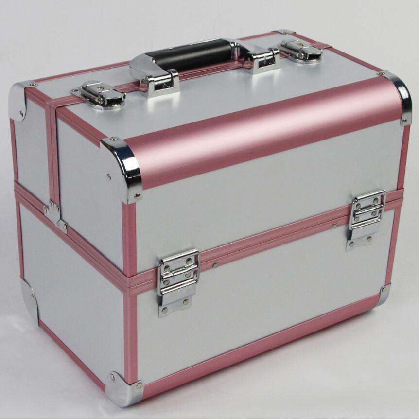 Organisateur pour les cosmétiques, Portable boîte de maquillage valise, maquillage organisateur boîte bijoux stockage support de la boîte sac pour voyage grande taille