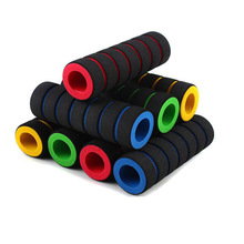 1pair Bicycle Handlebar Songe Cover Soft Anti-slip Relieve Shock Increase Friction Elastic Protective
